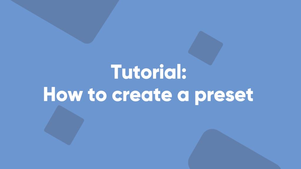 betpractice studio how to create a preset tutorial