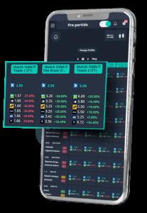 Comparar cuotas en smartphone para encontrar valor