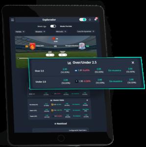 analisis de mercado en tablet con betpractice