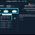 aplicar filtros de cuotas en directo paras las alertas de fútbol en Betpractice