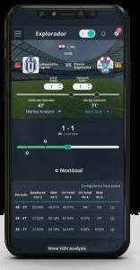 pronóstico de goles en directo en el smartphone