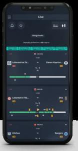 estadísticas de fútbol en directo en el smartphone