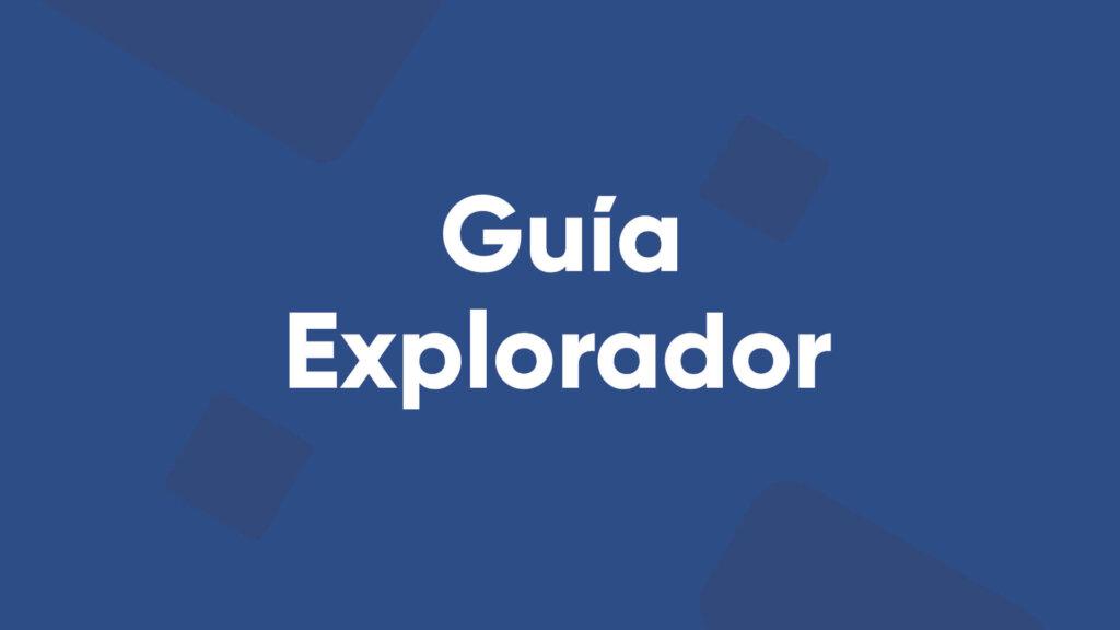 guía explorador