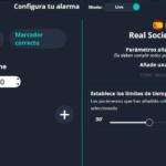 configuracion de parametros de tiempo y marcador para las alertas de fútbol