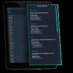 tablet con alarmas notificadas